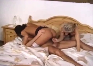 Two slutty stepdaughters bang with their lucky brother