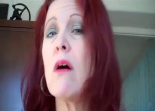 Sweet redhead MILF rides on her lovely son