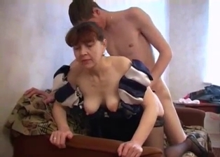 Real mom and son fuck in the doggy style pose