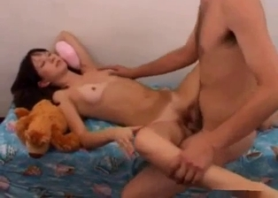 Toned young sex angel and her perverted daddy