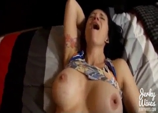 Big-boobed sister slut looks so hot in POV angle