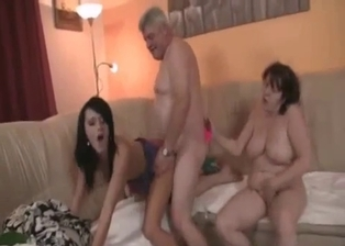 Fat dad sticks his cock in stepdaughter's cunt