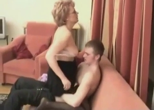 My cute mother eats my dick with passion