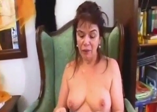 Cumming on the face of my slutty busty mother