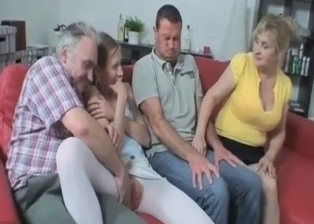 Nasty family has a really perverted incest action
