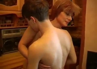 Young man and his completely perverted redhead mom